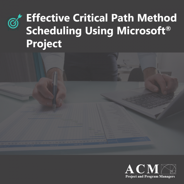 Effective Critical Path Method Scheduling with MS Project, Lunch and Learn Webinar Training for Professional Development