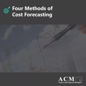 Lunch and Learn Webinar. Four Methods of Cost Forecasting for Professional Development, Project Managers