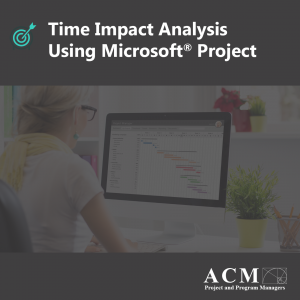 Time impact analysis using Microsoft Project, Lunch and Learn Webinar Training for Professional Development, Project Managers